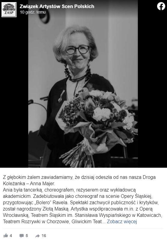 Anna Mejer nie żyje