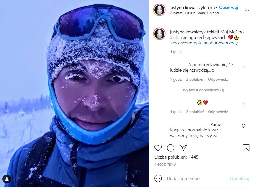 Justyna Kowalczyk opublikowała w sieci zdjęcie męża