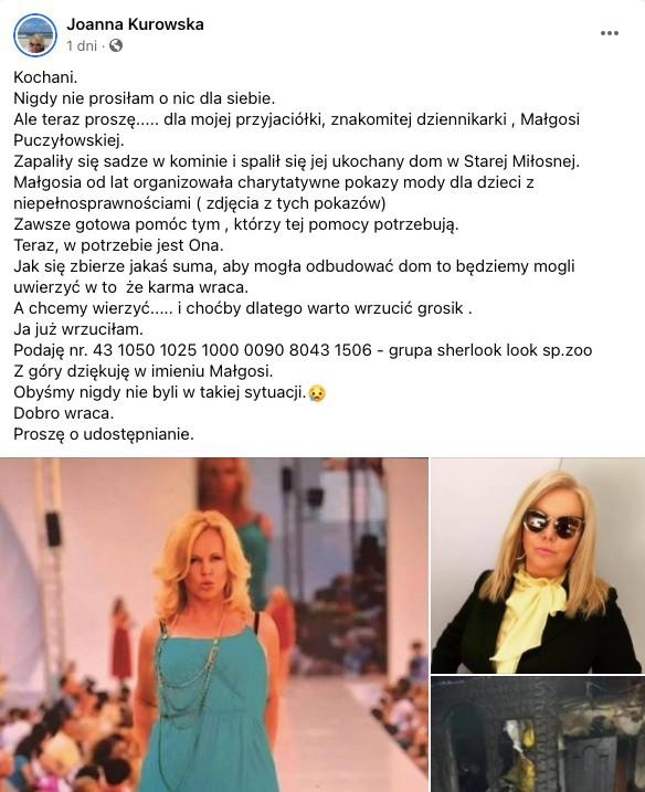 Małgorzata Puczyłowska spalona chata