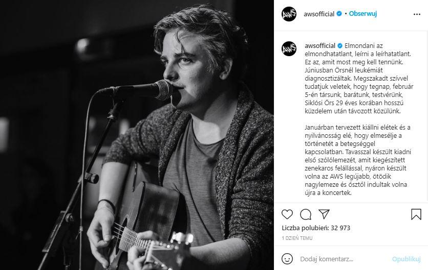 Nie żyje piosenkarz