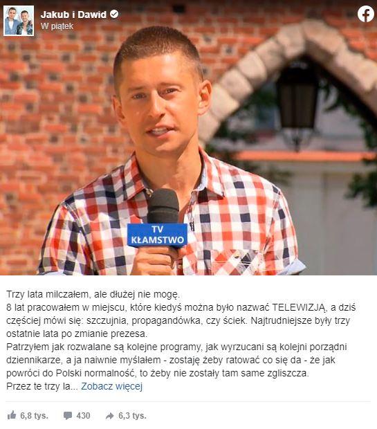 Dziennikarz zdradził prawdę o TVP