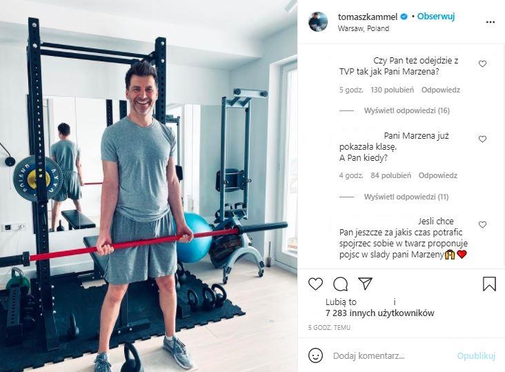 Tomasz Kammel nie komentuje odejścia Marzeny Rogalskiej
