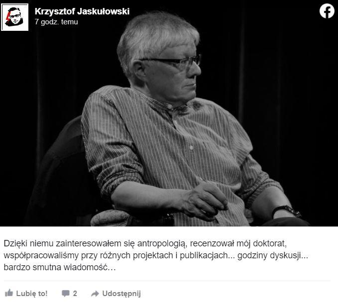Wojciech Burszta nie żyje