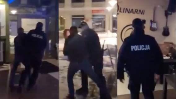 policja brutalna interwencja