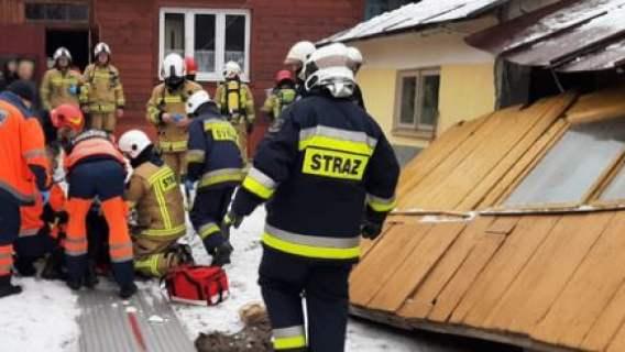 Wybuch w polskiej miejscowości