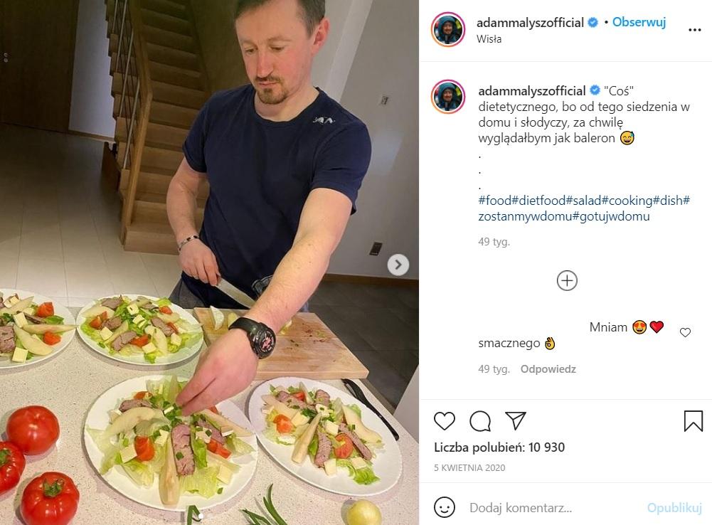 Adam Małysz gotuje