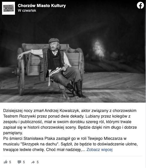 Andrzej Kowalczyk nie żyje