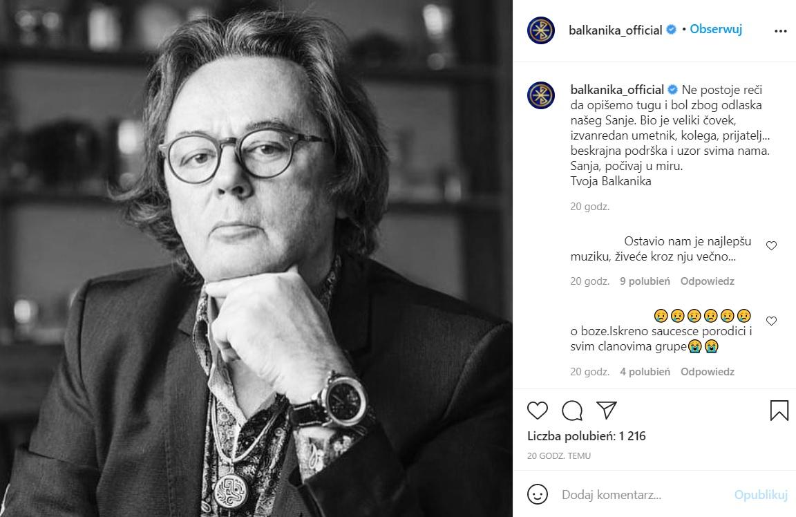 Eurowizja - nie żyje Sanja Ilić