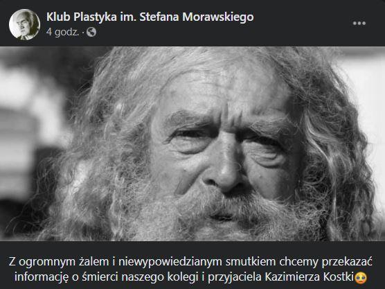 Kazimierz Kostka nie żyje