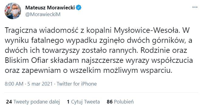 Mateusz Morawiecki przekazał tragiczne wiadomości