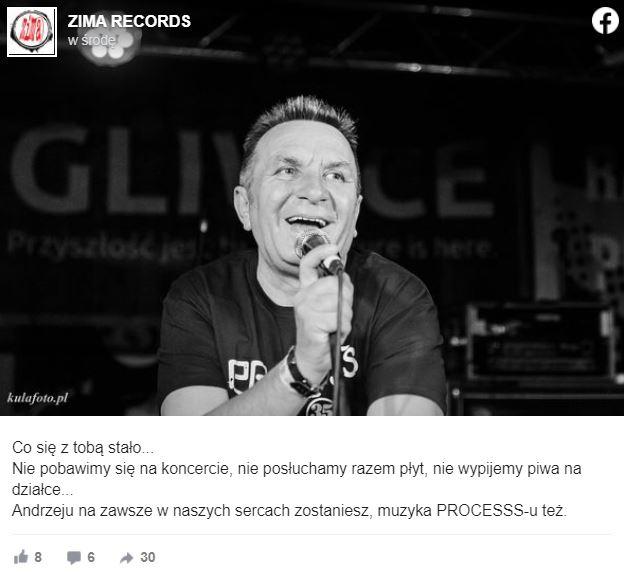 Nie żyje Andrzej Mierzwa