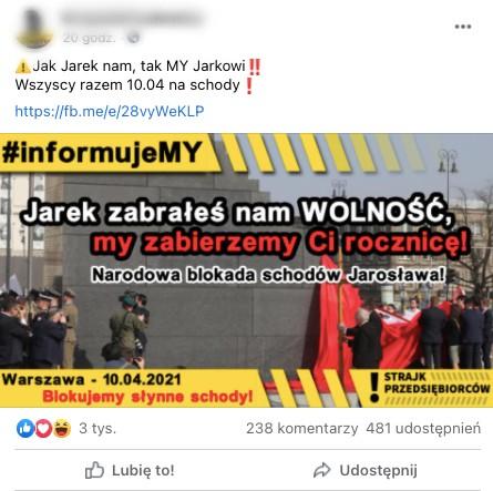 protest będzie wojna