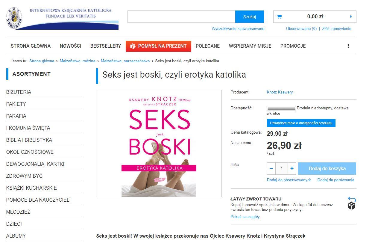 Tadeusz Rydzyk prowadzi również księgarnie internetową