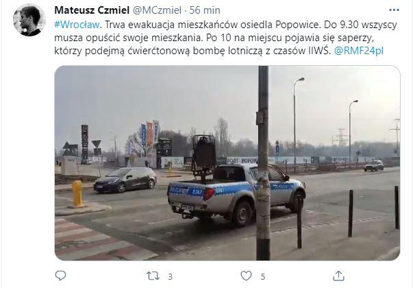Wiadomości o ewakuacji we Wrocławiu