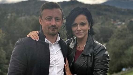 Adam Małysz z żoną Izabelą