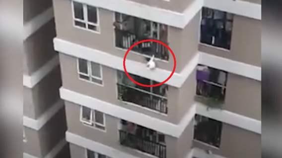 Dziewczynka spadła z 12. piętra