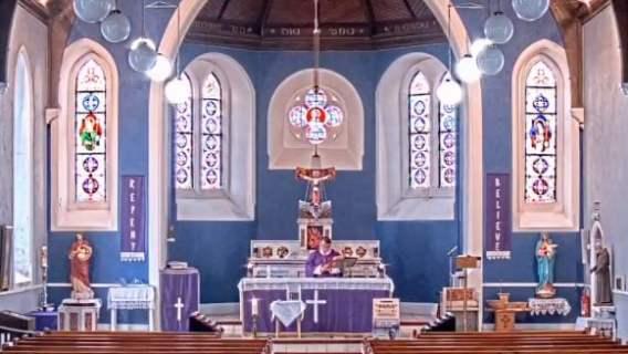 Msza święta w kościele