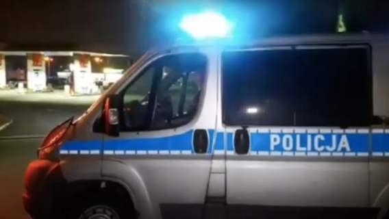 policja atak nożownika